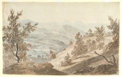 View from the hills above Hardwar (U.P.).  12 April 1789